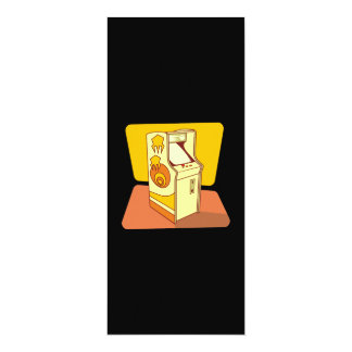 Tall arcade game console 4x9.25 paper invitation card