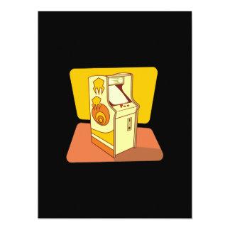 Tall arcade game console 17 cm x 22 cm invitation card