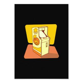 Tall arcade game console 11 cm x 16 cm invitation card