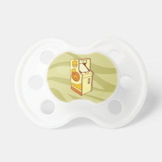 Tall arcade game console pacifier