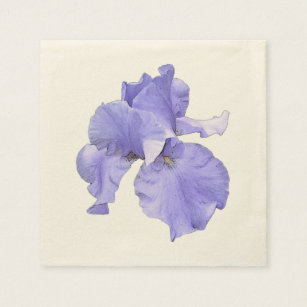 Tall Bearded Purple Iris Disposable Napkin
