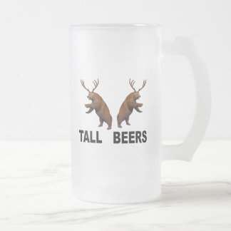 Tall Beers Frosted Glass Beer Mug