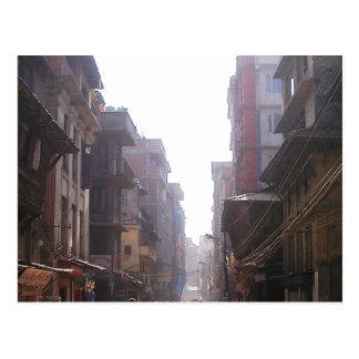Tall Buildings, City Street, Kathmandu, Nepal Postcard