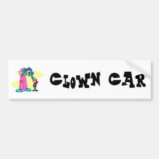 Tall clown little kid bumper sticker