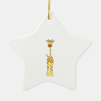 Tall Cute Giraffe. Cartoon Animal. Christmas Ornament