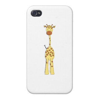 Tall Cute Giraffe. Cartoon Animal. iPhone 4/4S Covers