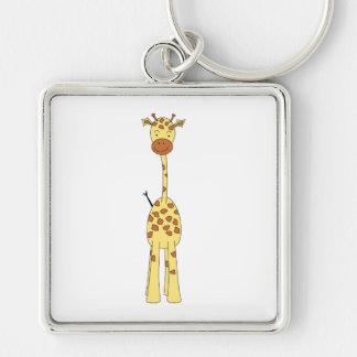 Tall Cute Giraffe Cartoon Animal Keychains