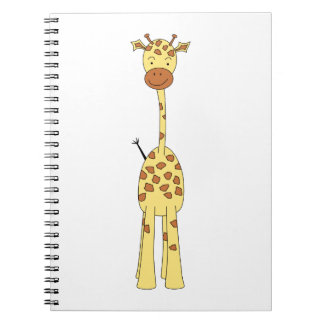 Tall Cute Giraffe. Cartoon Animal. Notebooks