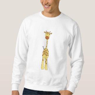 Tall Cute Giraffe. Cartoon Animal. Sweatshirt
