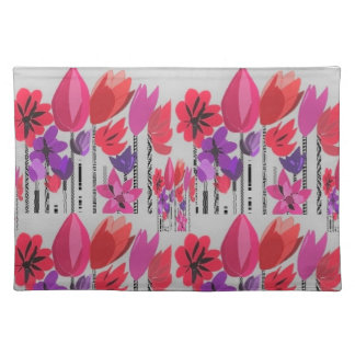 Tall Flowers in Red, Pink and Purple Placemat