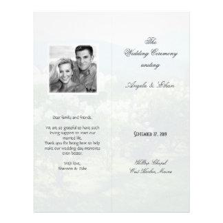 Tall, Folded Scenic Background Wedding Program 21.5 Cm X 28 Cm Flyer