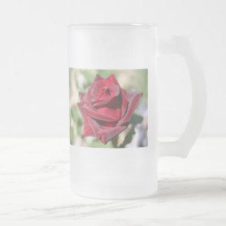 Tall Glass Rose Mug