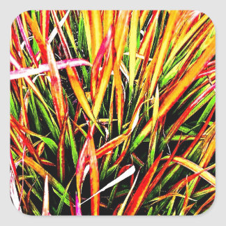 Tall-Grass Colors Square Stickers