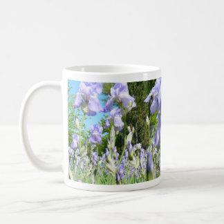 Tall Lavender Freesia Mugs