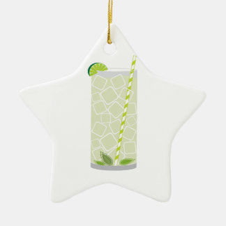 Tall Mojito Ceramic Star Decoration