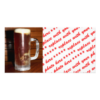 Tall Mug of Beer Customized Photo Card