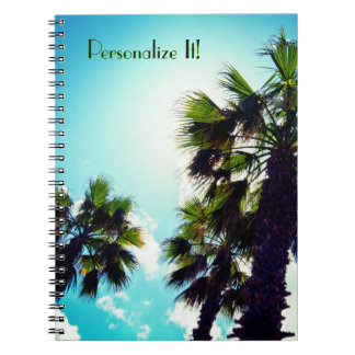 Tall Palm Trees Notebook