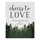 Tall Pines   Cheers to Love Wedding Bar Sign
