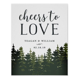 Tall Pines | Cheers to Love Wedding Bar Sign