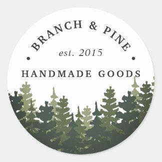 Tall Pines Classic Round Sticker
