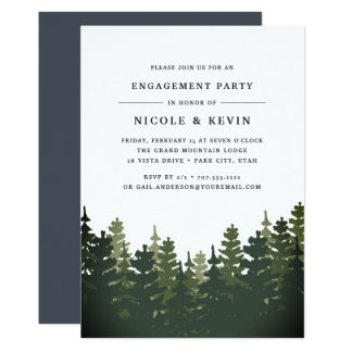 Tall Pines Engagement Party Invitation