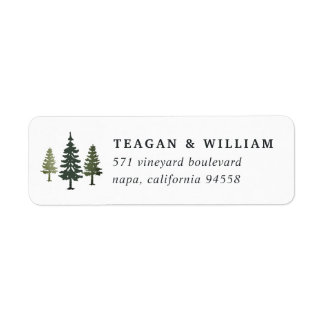 Tall Pines Return Address Return Address Label