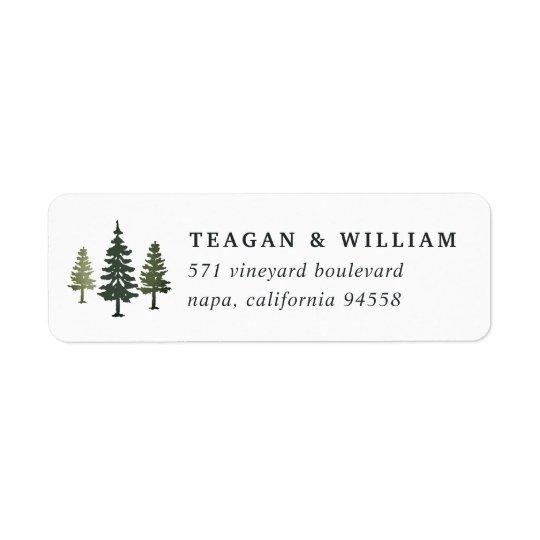Tall Pines Return Address Return Address Label