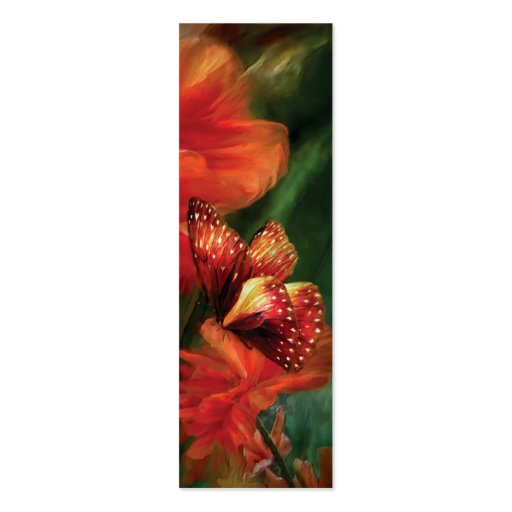 Tall Poppies Art Bookmark Business Card