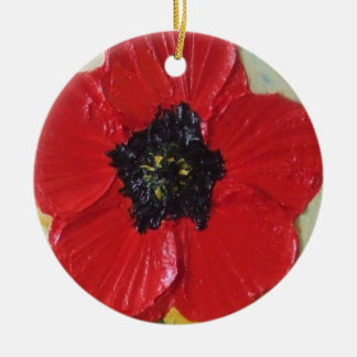 Tall Red Poppy Ornament