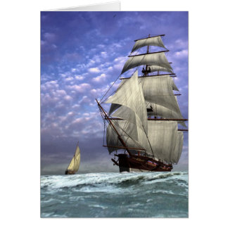 Tall Ship and Ketch Greeting Card