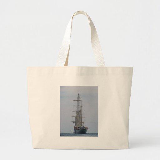 Tall Ship Entering The Open Sea Bag