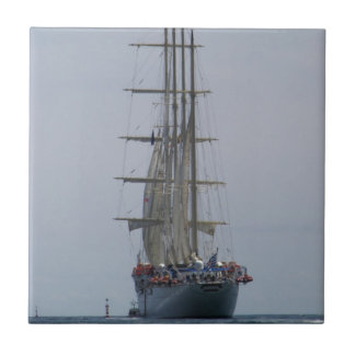 Tall Ship Entering The Open Sea Tile