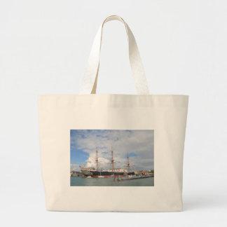 Tall Ship HMS Warrior Tote Bag