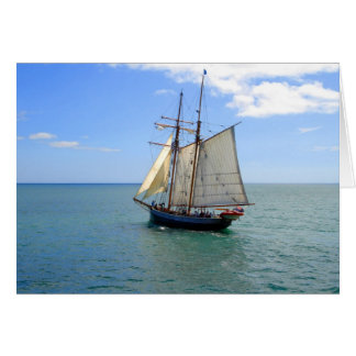Tall Ship in the Bay of Islands, New Zealand Card