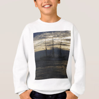 Tall ship in the evening sweatshirt