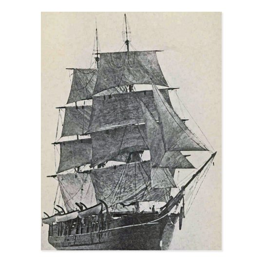 Tall Ship Logo Postcard