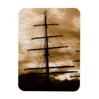 Tall ship mast rectangular photo magnet