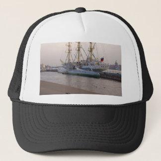 Tall Ship Mir And Submarine Trucker Hat