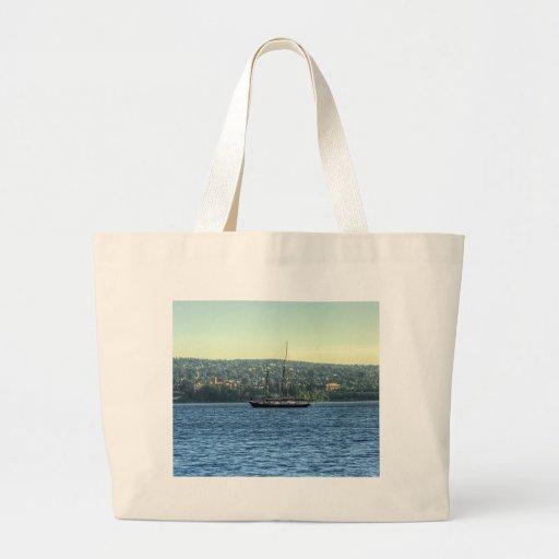 Tall Ship on the Lake Canvas Bag