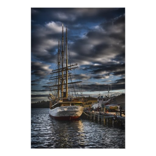 Tall Ship Picton Castle HDR Poster