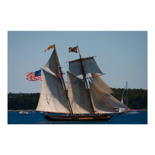 Tall Ship Pride of Baltimore Photo Poster