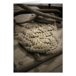 Tall Ship Rope Coil Greeting Card