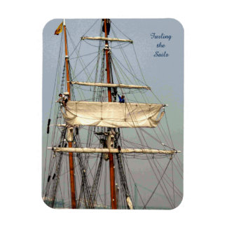 Tall Ship Seamen Furl the Sails Magnet