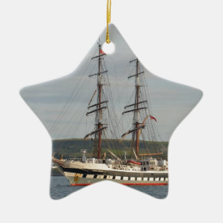 Tall ship Stavros S Niarchos. Christmas Ornament