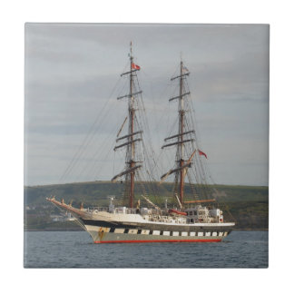 Tall ship Stavros S Niarchos. Small Square Tile