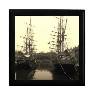 Tall Ships in Charlestown Harbour Cornwall Gift Box