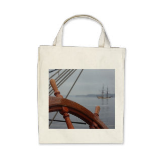 Tall Ships Passing Canvas Bags