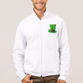 Tall St Patricks Day Hat Mens Jacket