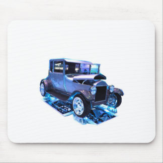 Tall T in blue Mouse Pad