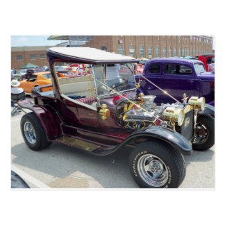 Tall Topped Hot Rod Postcard